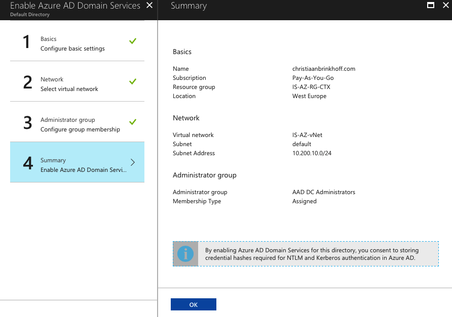 Configure Azure Active Directory Domain Services for Citrix