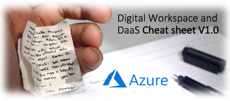 Stop searching! Compare all the different Workspace solutions for Microsoft Azure in this Digital Workspace and DaaS Cheat Sheet – 22 questions answered here
