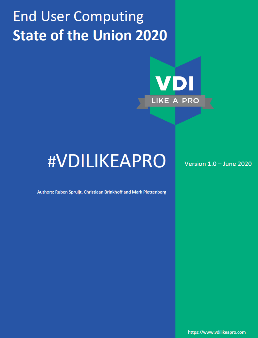 NOW AVAILABLE. The #VDILIKEAPRO state of the EUC union 2020 community report. Go get it here NOW!