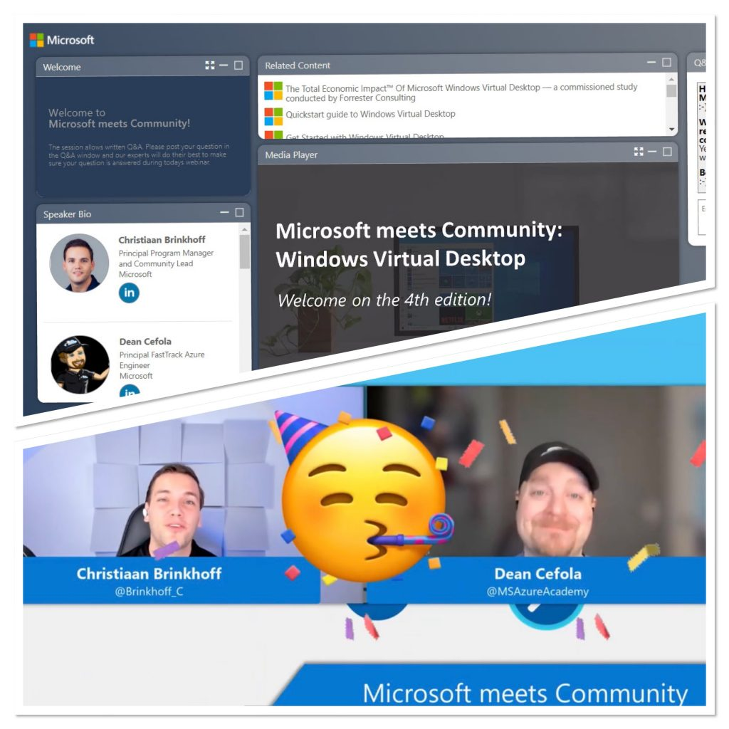 #4 Microsoft meets Community: Windows Virtual Desktop (fourth – One Year Anniversary edition) recap and content sharing
